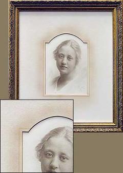 Antiqued Portrait with Antiqued Matting