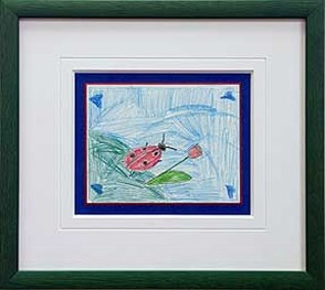Framed Child's Thank-You Card