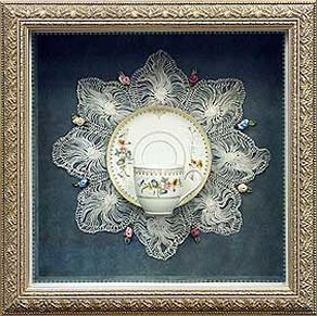 Front Opening Antique Silver Frame
