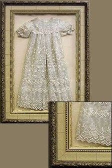 Shadowboxed Christening Gown